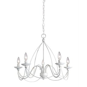 White chandelier with crystals