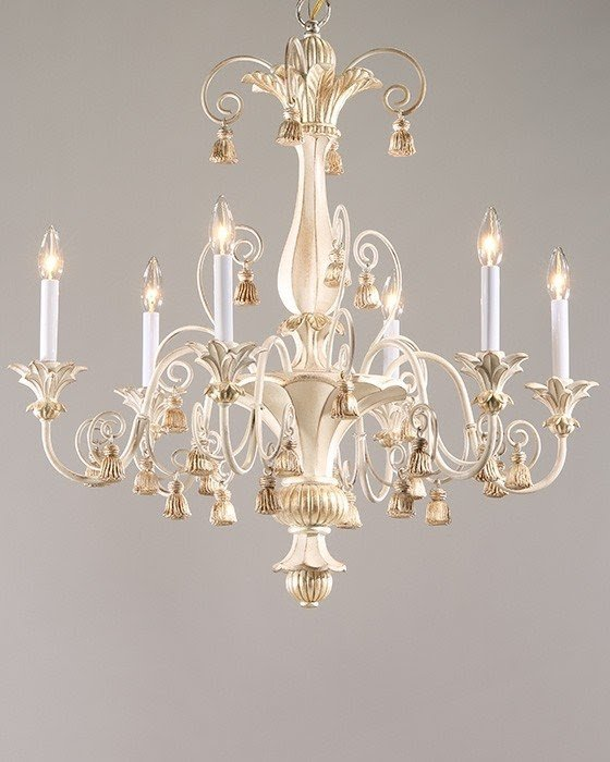 Nice White Shabby Chic Chandelier 1
