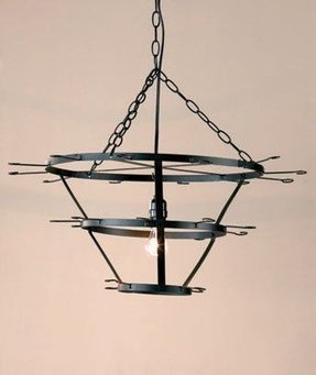 Wine glass chandelier 12