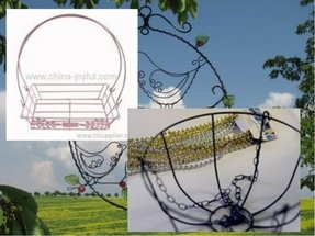 Wire basket chandelier 37