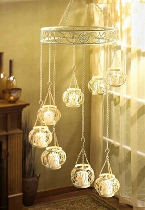 Wrought iron candle chandelier foter wrought iron candle chandelier 1 aloadofball Image collections