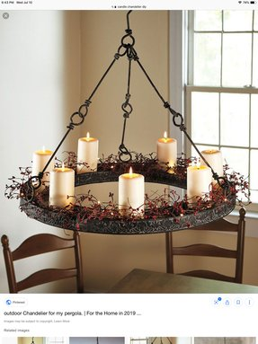 Wrought Iron Candle Chandelier 19