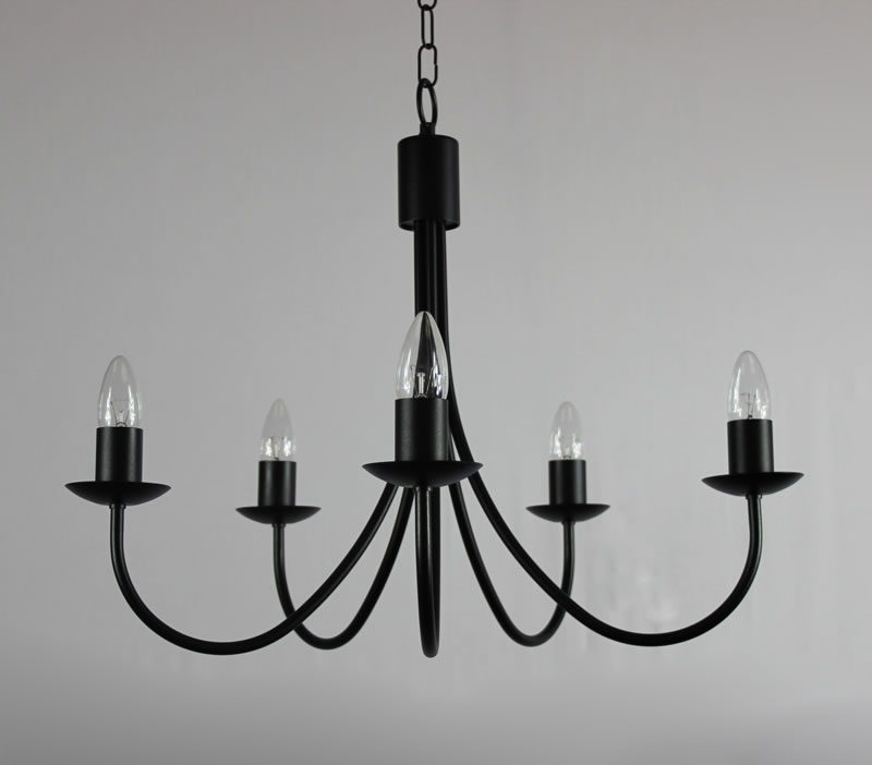 Wrought Iron Candle Chandelier 29