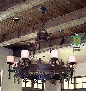 Wrought iron candle chandelier 32