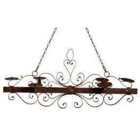 Wrought Iron Candle Chandelier 9