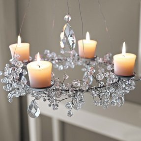 Chandelier votive candle holders
