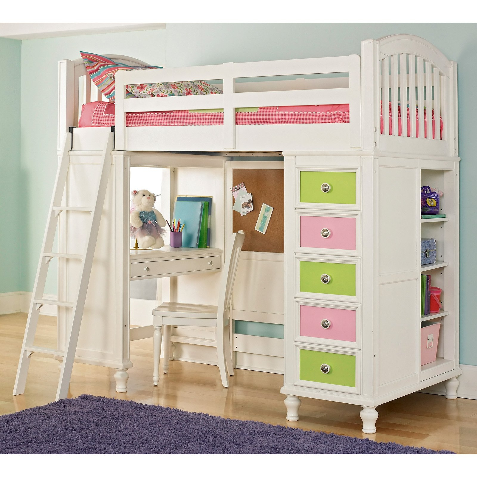 childrens bunk bed with futon bunk bed with desk and futon   foter  rh   foter