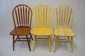 "eHemco Solid Wood Windsor Arrow Back Chair - Set of 2 (Heritage Oak) (38""H x 19""W x 20""D)"