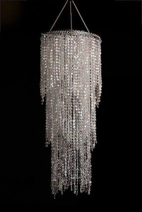 Faux crystal chandelier 1