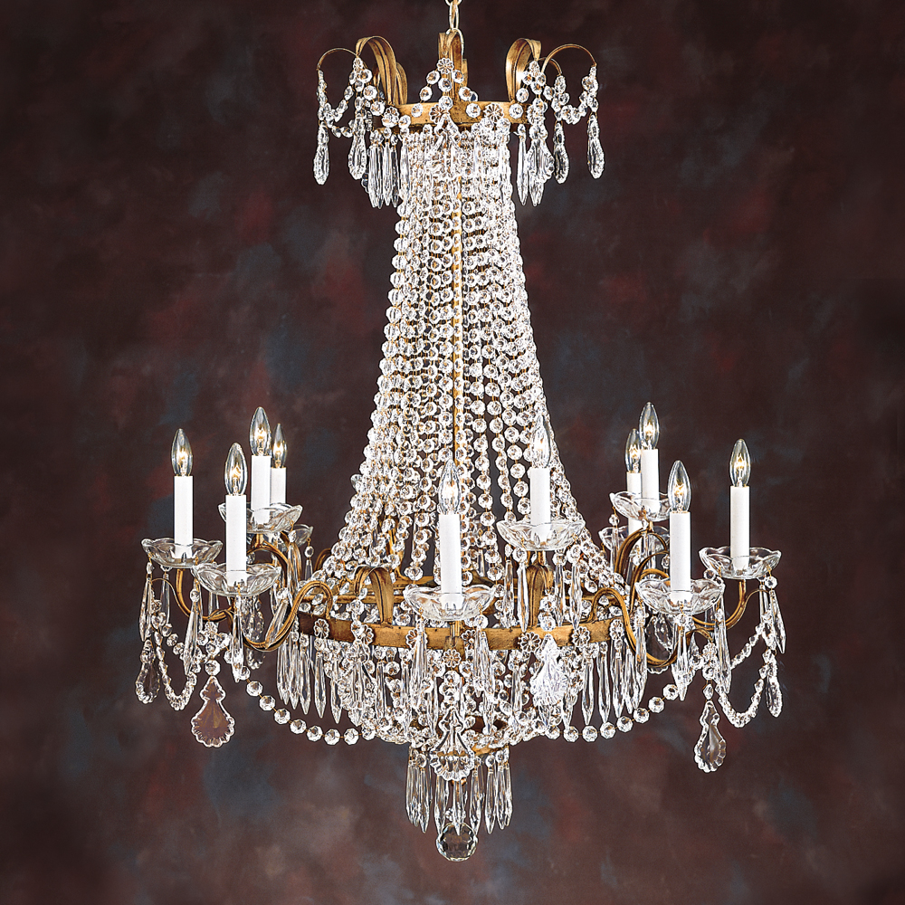 French Empire Crystal Chandelier 13