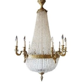 French empire style crystal chandelier 1