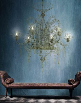 French wire chandelier foter french wire chandelier 18 aloadofball Choice Image