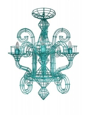 French wire chandelier 37