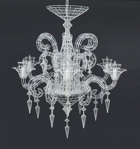 French wire chandelier 9