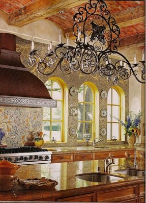 I have seen this ceiling treatment on another kitchen and