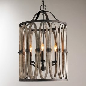 Large rustic chandelier