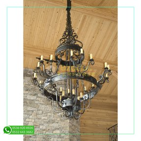Large rustic chandeliers 16