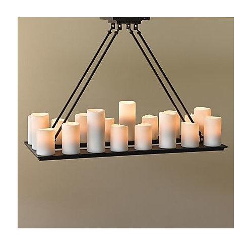 Rectangular Candle Chandelier 1