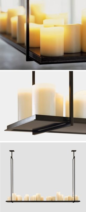 Rectangular candle chandelier 2