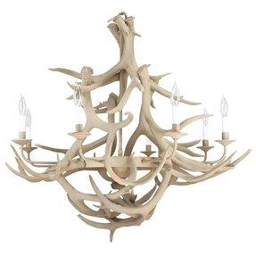 Modern antler chandelier foter rustic 41 diameter eight arm deer antler chandelier from a aloadofball Images