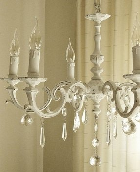 Shabby chic white chandelier 3