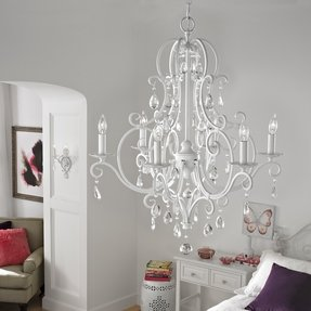 Shabby chic white chandelier 40