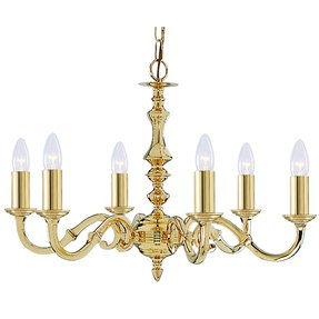 Solid brass chandelier foter seville solid brass 6 light traditional chandelier aloadofball Choice Image