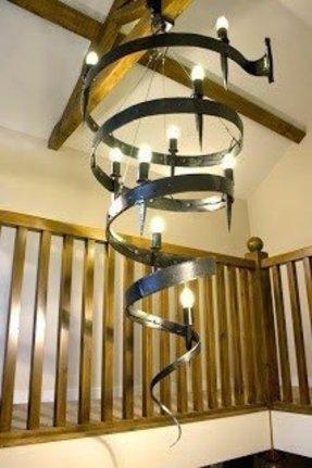 Spiral chandelier foter spiral chandelier 14 aloadofball Image collections