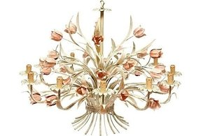 Tulip iron chandelier
