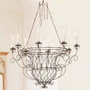 French wire chandelier foter vintage french chandelier aloadofball Choice Image