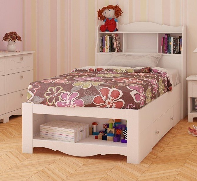 Dixie Storage Bed And Optional Bookcase Headboard