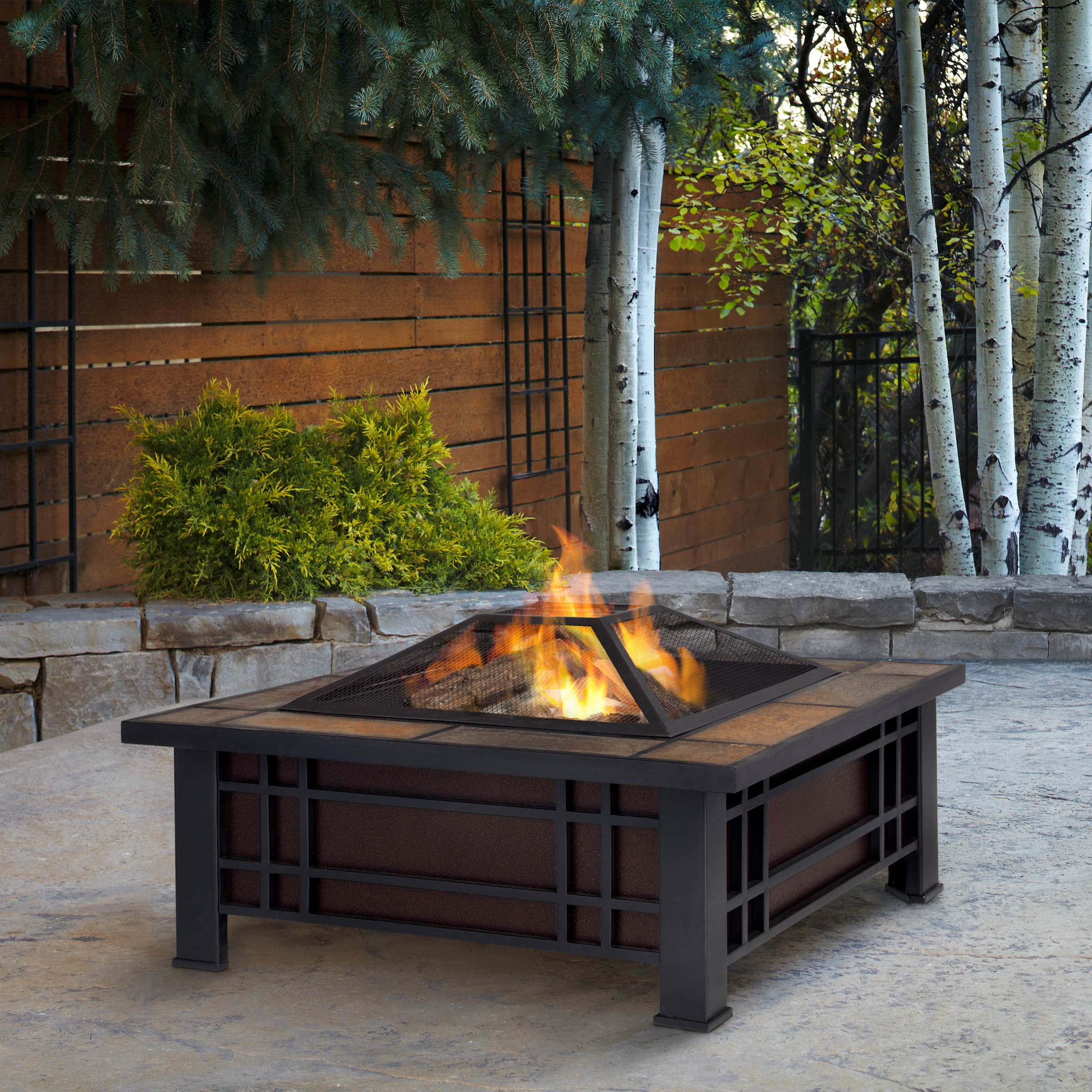 Garden Lights Savannah Wood Burning Fire Pit