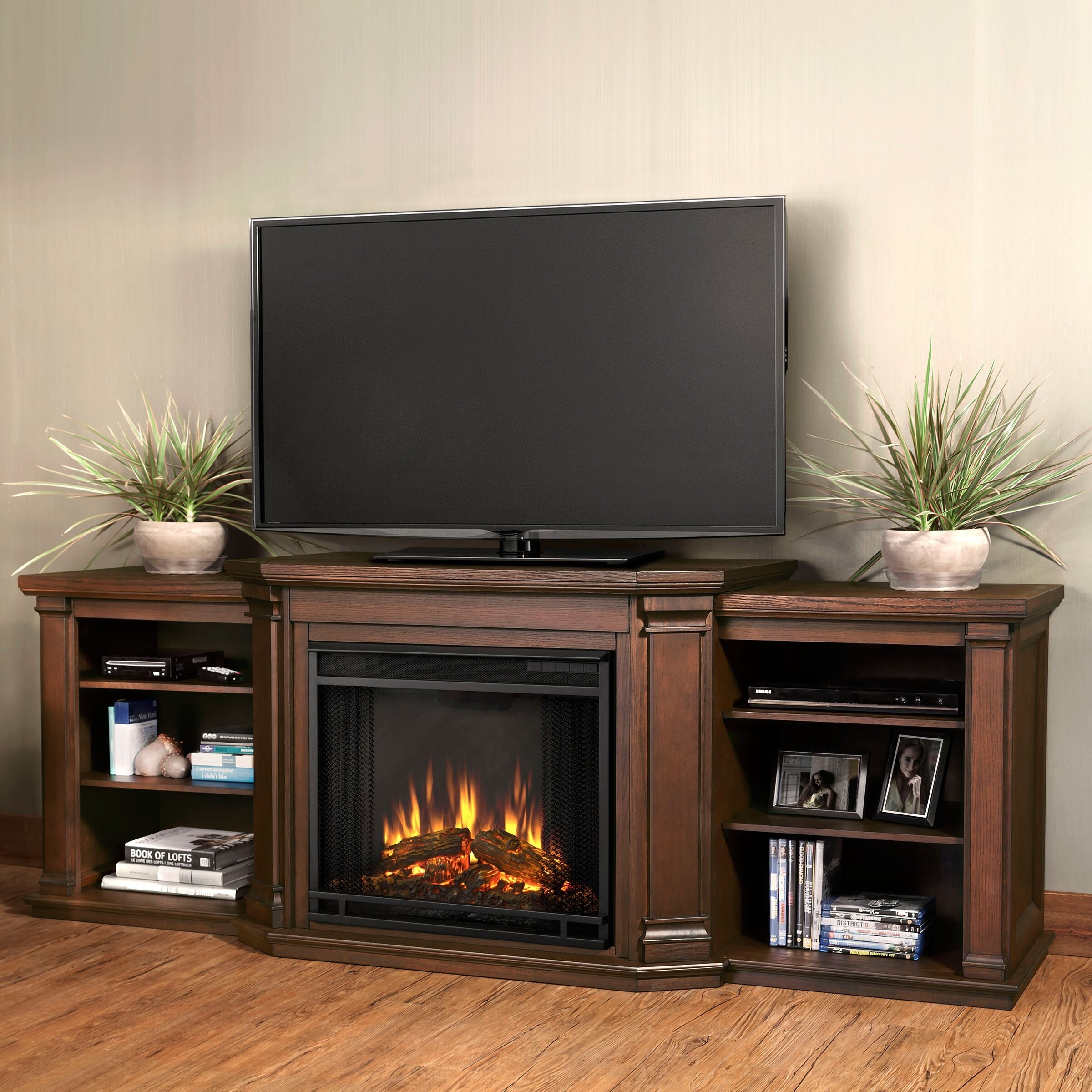 Valmont TV Stand with Electric Fireplace
