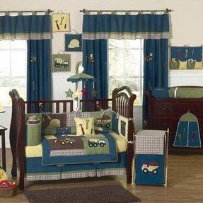 Construction 9 Piece Crib Bedding Set