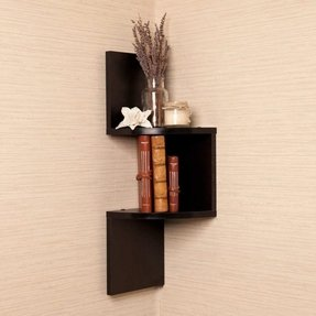 Corner Wall Shelf in Black