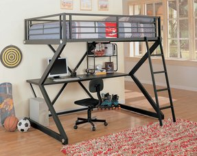 Drew Full Workstation Loft Bed with Desk