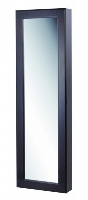 Kimberly Wall Mounted Jewelry Armoire with Mirror