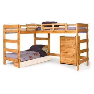 L-Shaped Bunk Bed