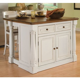 Small Movable Kitchen Island | small white portable kitchen