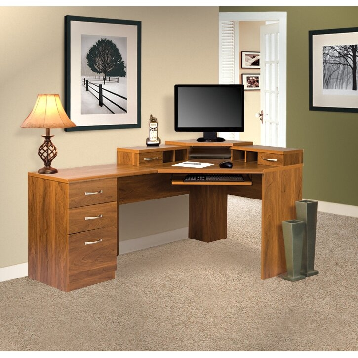 Office Adaptations Reversible Corner Computer Desk