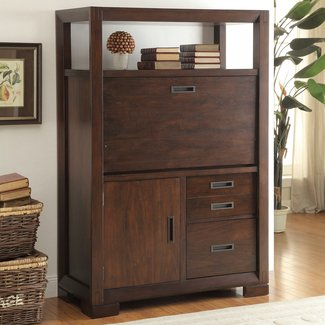 Computer Armoire With Pocket Doors - Foter