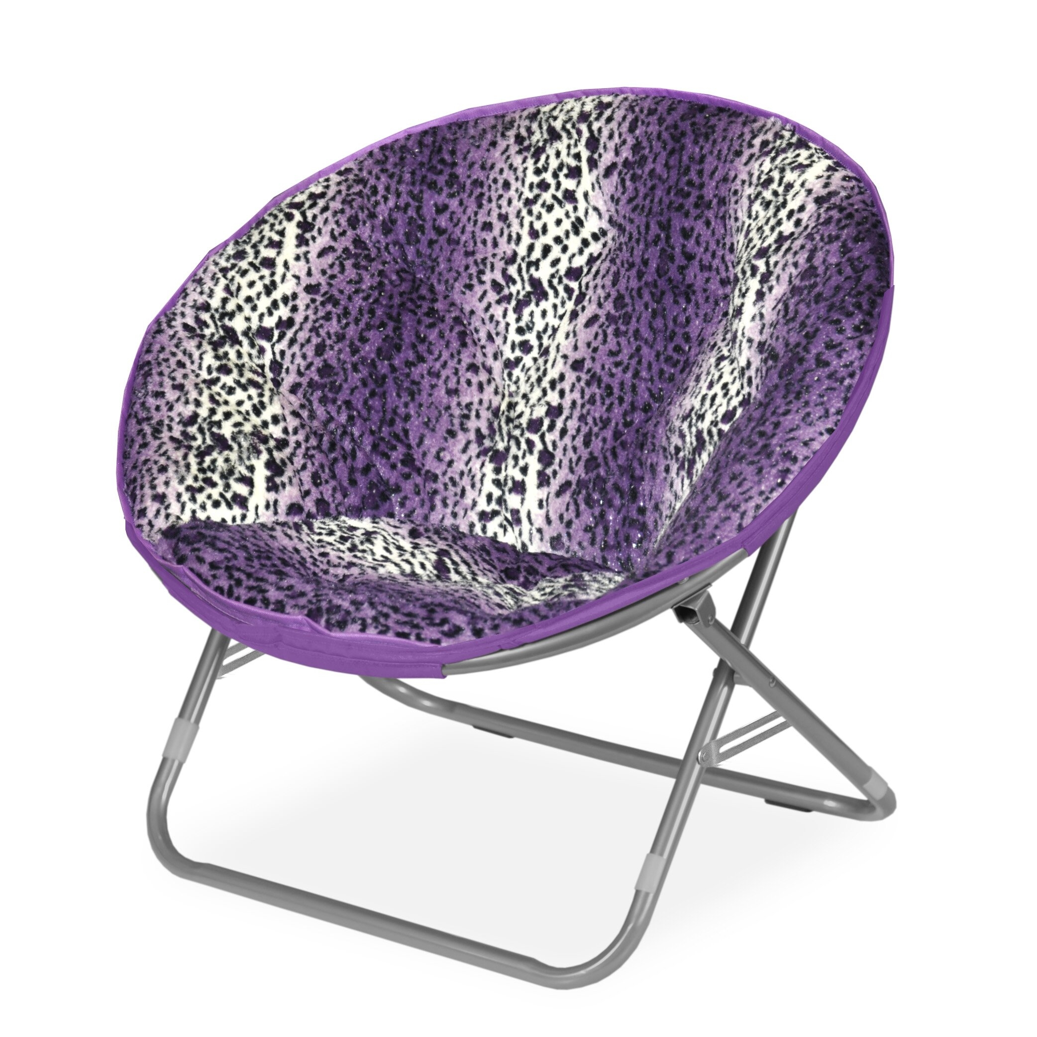 Rock Your Room Leopard Ombre Faux Fur Saucer Papasam Chair