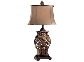 "Romance Jessica McClintock 33"" H Table Lamp with Bell Shade"