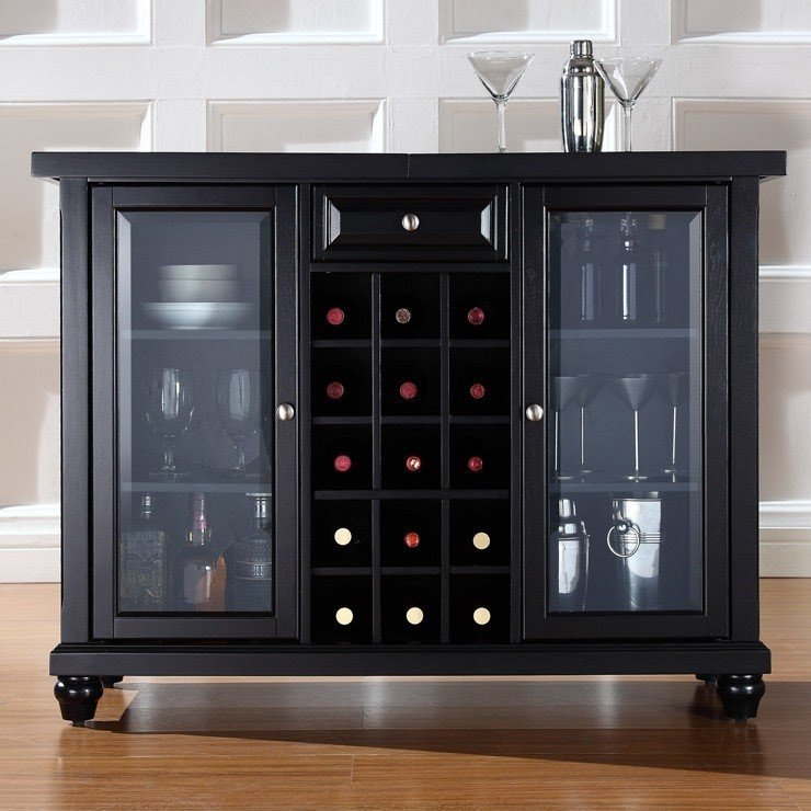 Alexandria Bar Cabinet With Wine Storage