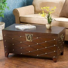 Boulstridge Nailhead Trunk Coffee Table