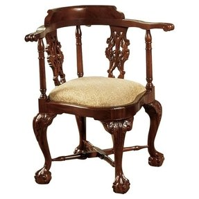 Chippendale Corner Fabric Arm Chair