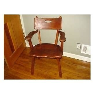 Colonial maple wood mission mortise style cabin accent arm chair