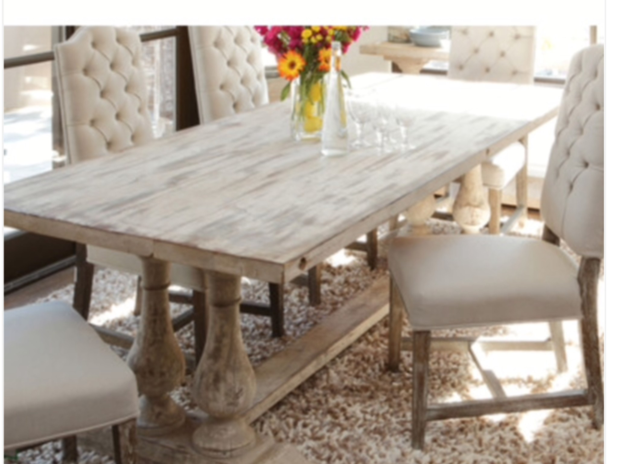 White Distressed Dining Table Foter