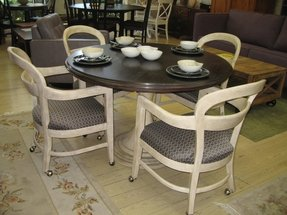 Home Clearance Stanley Dining Table Caster Chairs