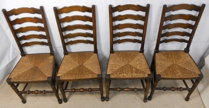 Ladder Back Chairs With Rush Seats 4